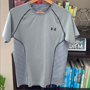 Adidas Men's Grey Lightweight Running Top Medium